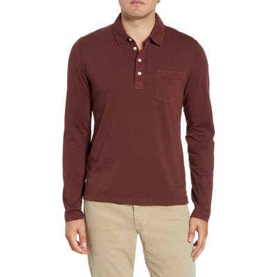 Billy Reid Pensacola Regular Fit Garment Dye Polo, Red