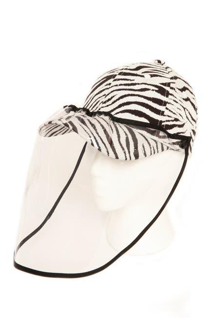 Image of LULLA COLLECTION BY BINDYA Zebra Stripe Face Shield Cap