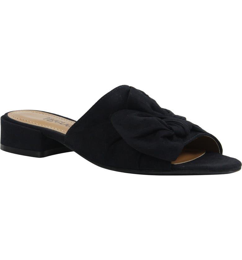 J. RENEÉ Sattuck Slide Sandal, Main, color, BLACK FABRIC