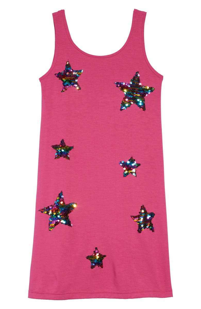 FLOWERS BY ZOE Sequin Stars Sleeveless Shift Dress, Main, color, 650