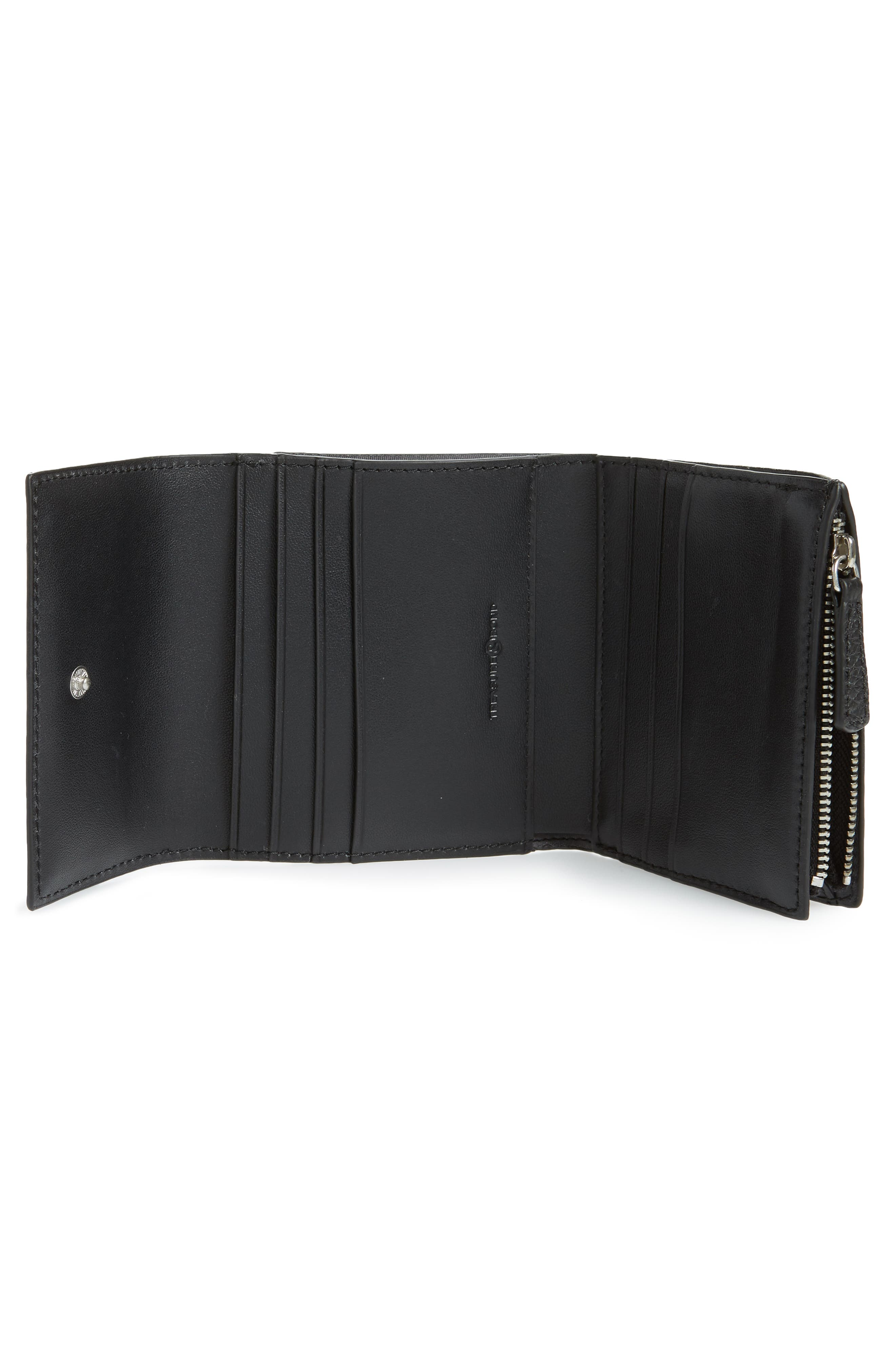 ,                             Tracy Leather Trifold Wallet,                             Alternate thumbnail 2, color,                             BLACK