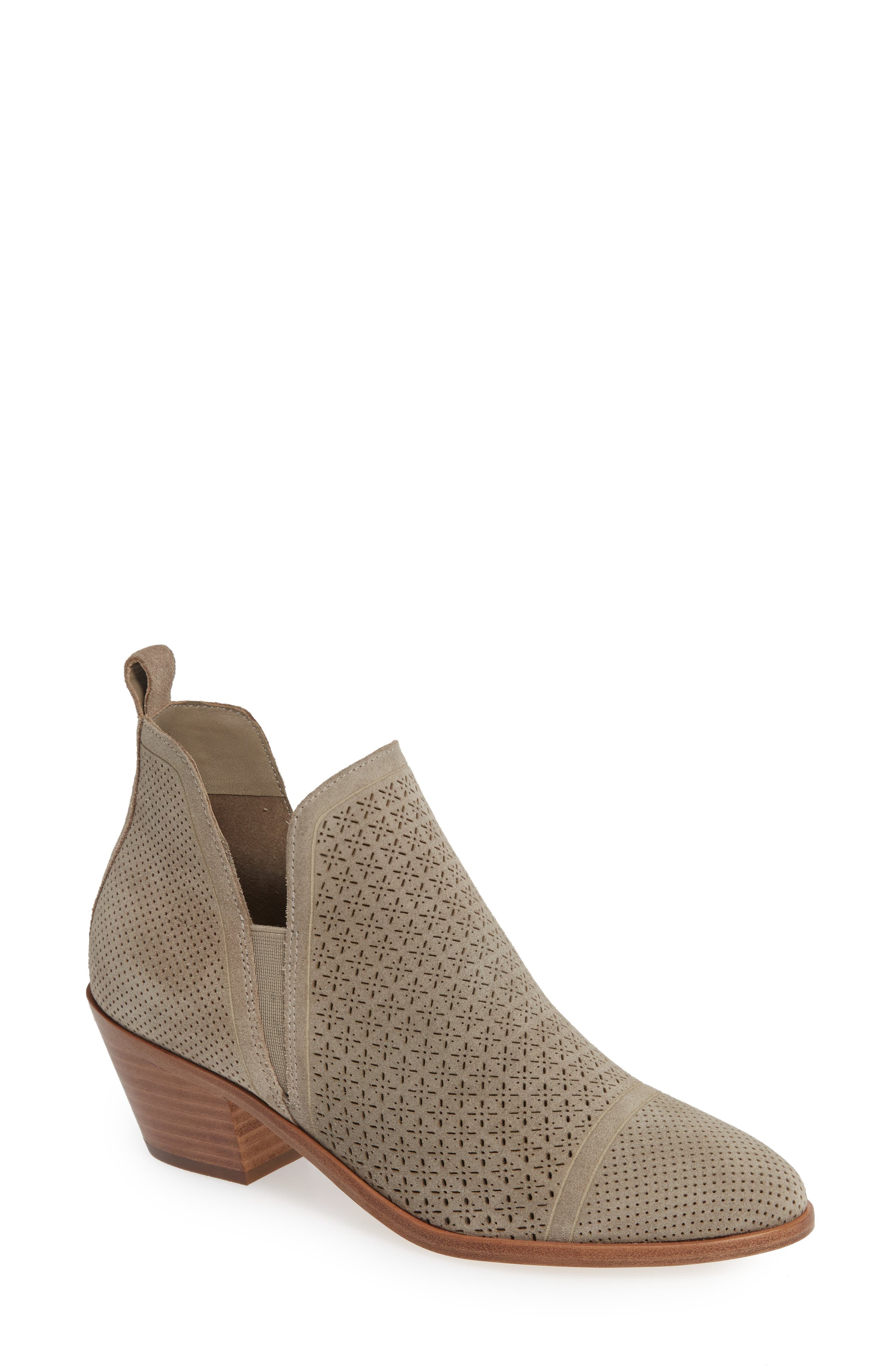 Sigerson Morrison Perforated Western Bootie, 0. - Grey