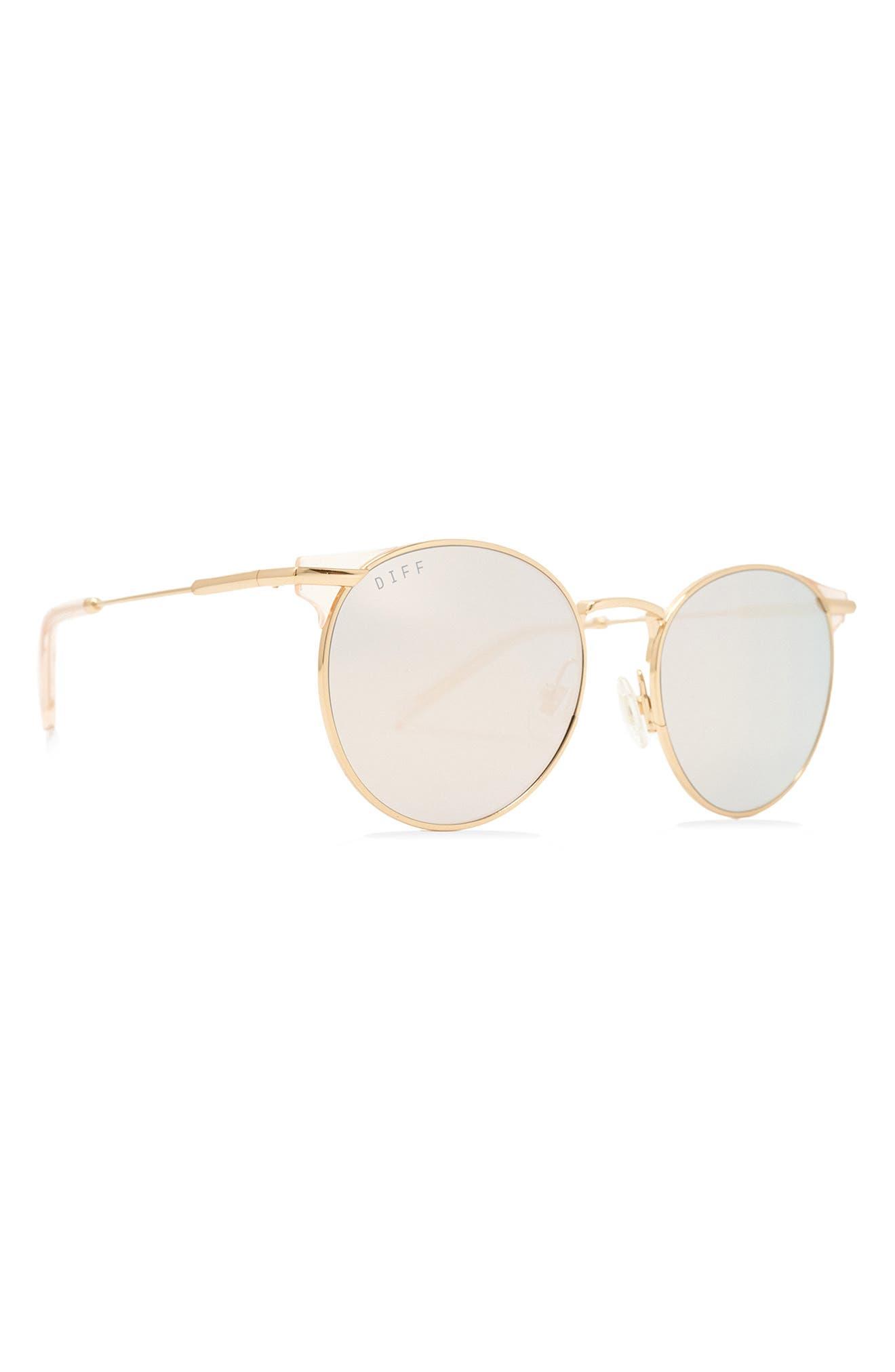 Summit 53mm Round Mirrored Sunglasses