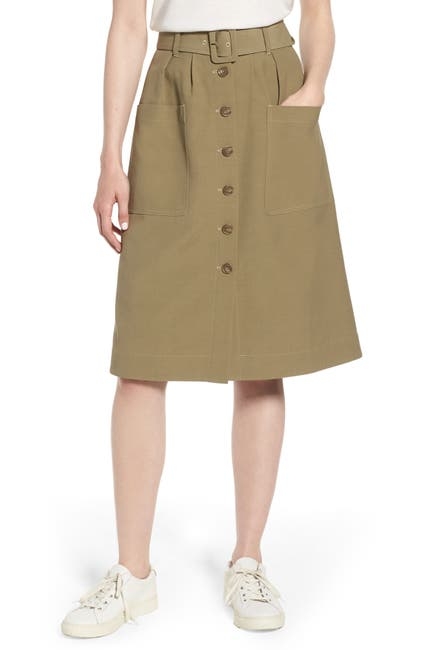 Image of Nordstrom Signature Belted Utility Skirt