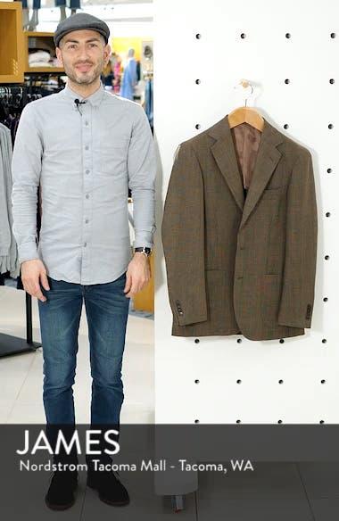 Trim Fit Plaid Wool Sport Coat, sales video thumbnail