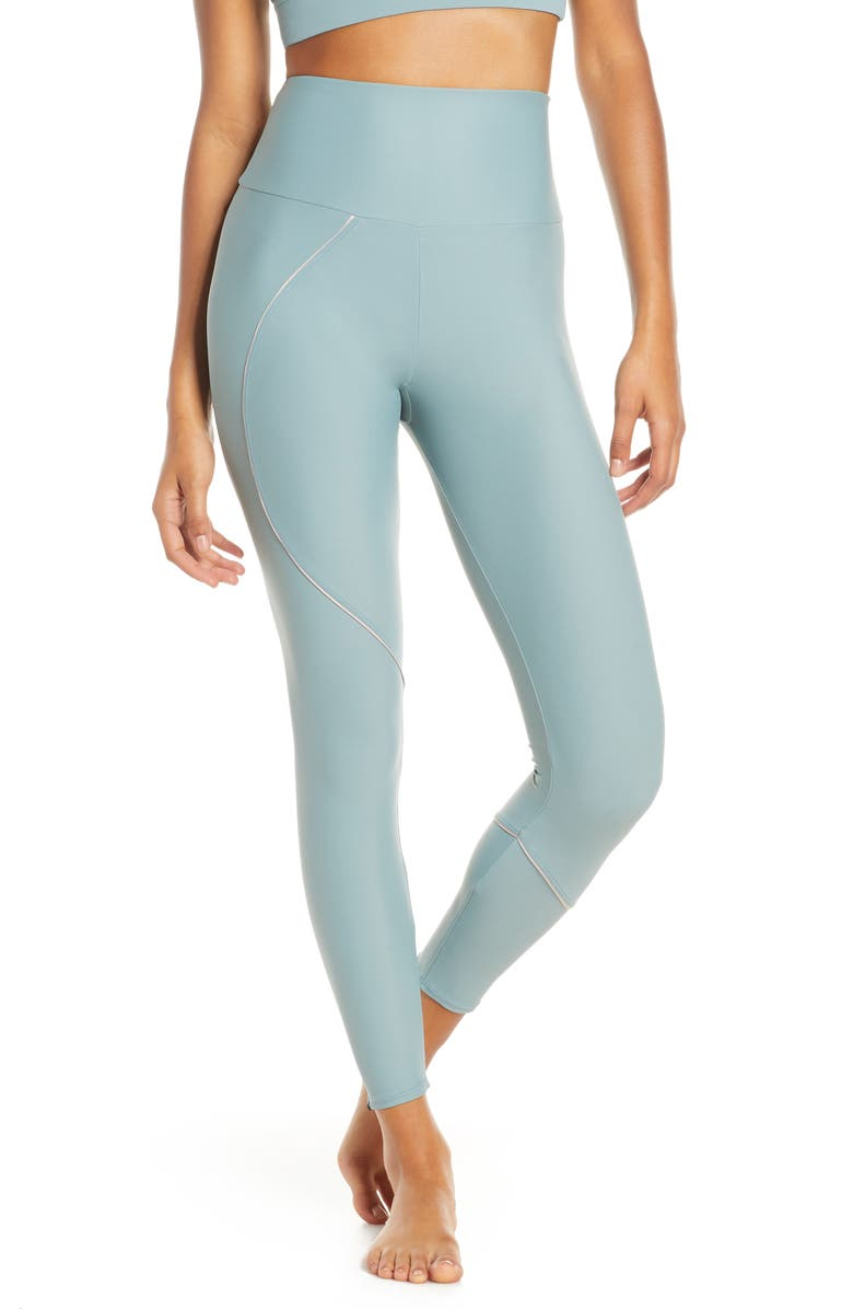 ONZIE Hyper Beam High Waist Midi Leggings, Main, color, MOONSTONE
