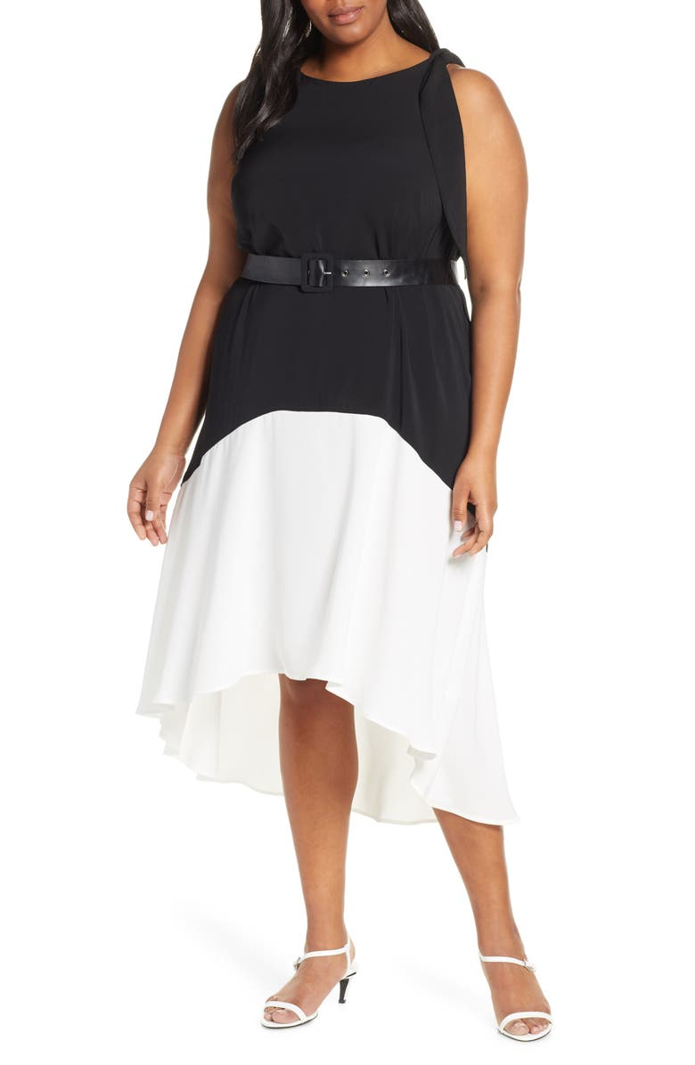 ELOQUII Colorblock High/Low Dress (Plus Size) | Nordstrom