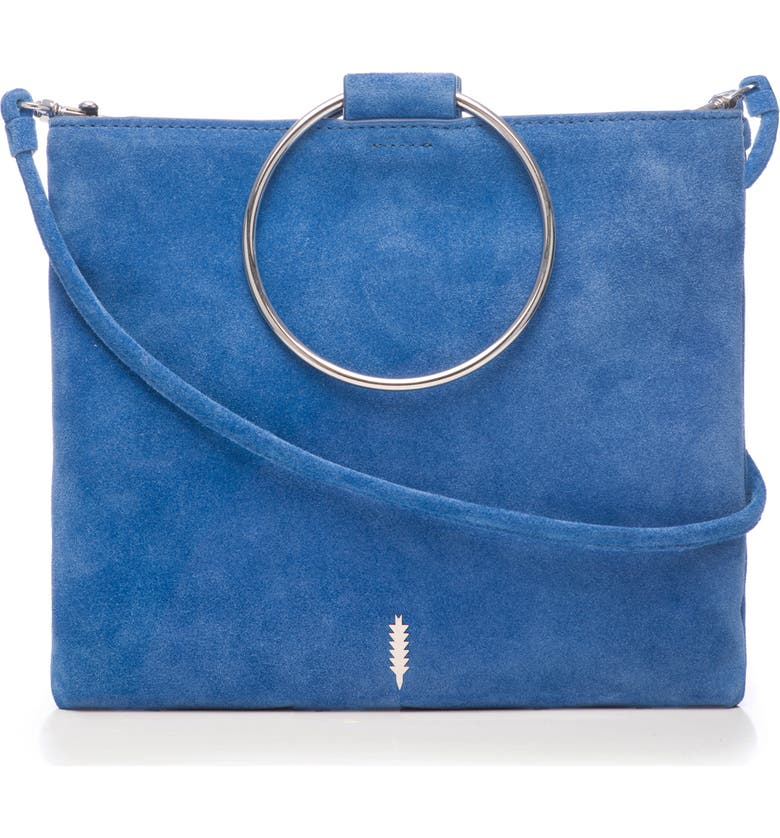 THACKER Le Pouch Suede Ring Handle Crossbody Bag, Main, color, 401