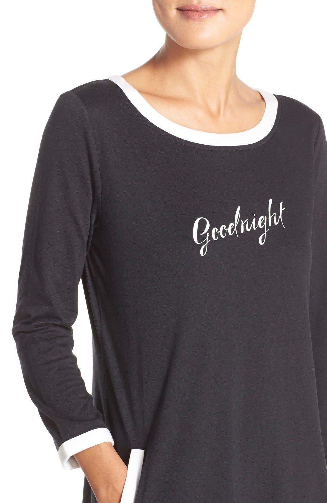 ,                             graphic sleep shirt,                             Alternate thumbnail 2, color,                             001