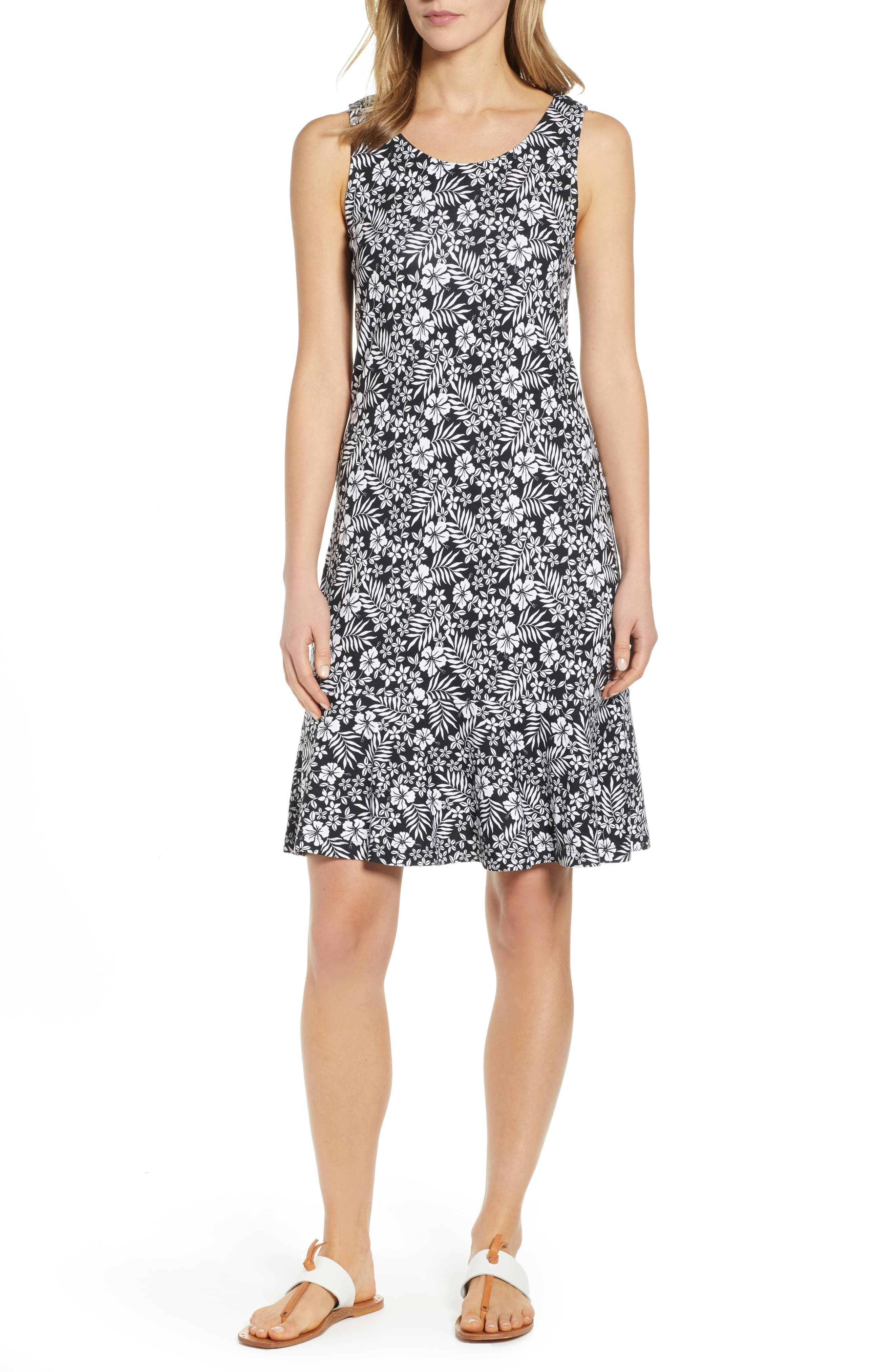 Tommy Bahama Florico Floral Dress, Black