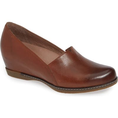 Dansko Liliana Concealed Wedge Slip-On-7- Brown