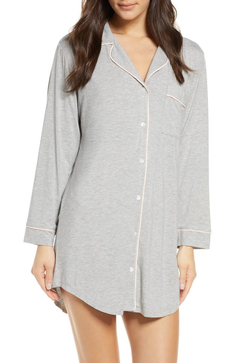 EBERJEY Gisele Stretch Jersey Sleep Shirt, Main, color, 022