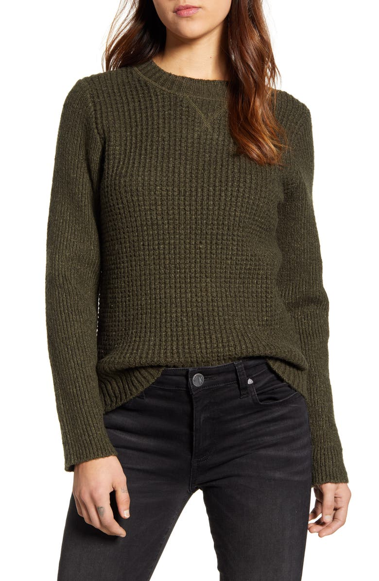 LUCKY BRAND Waffle Knit Pullover, Main, color, 300