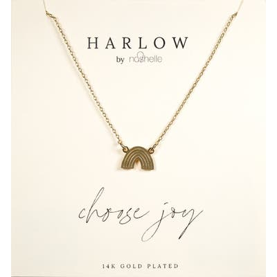 Harlow By Nashelle Rainbow Boxed Necklace