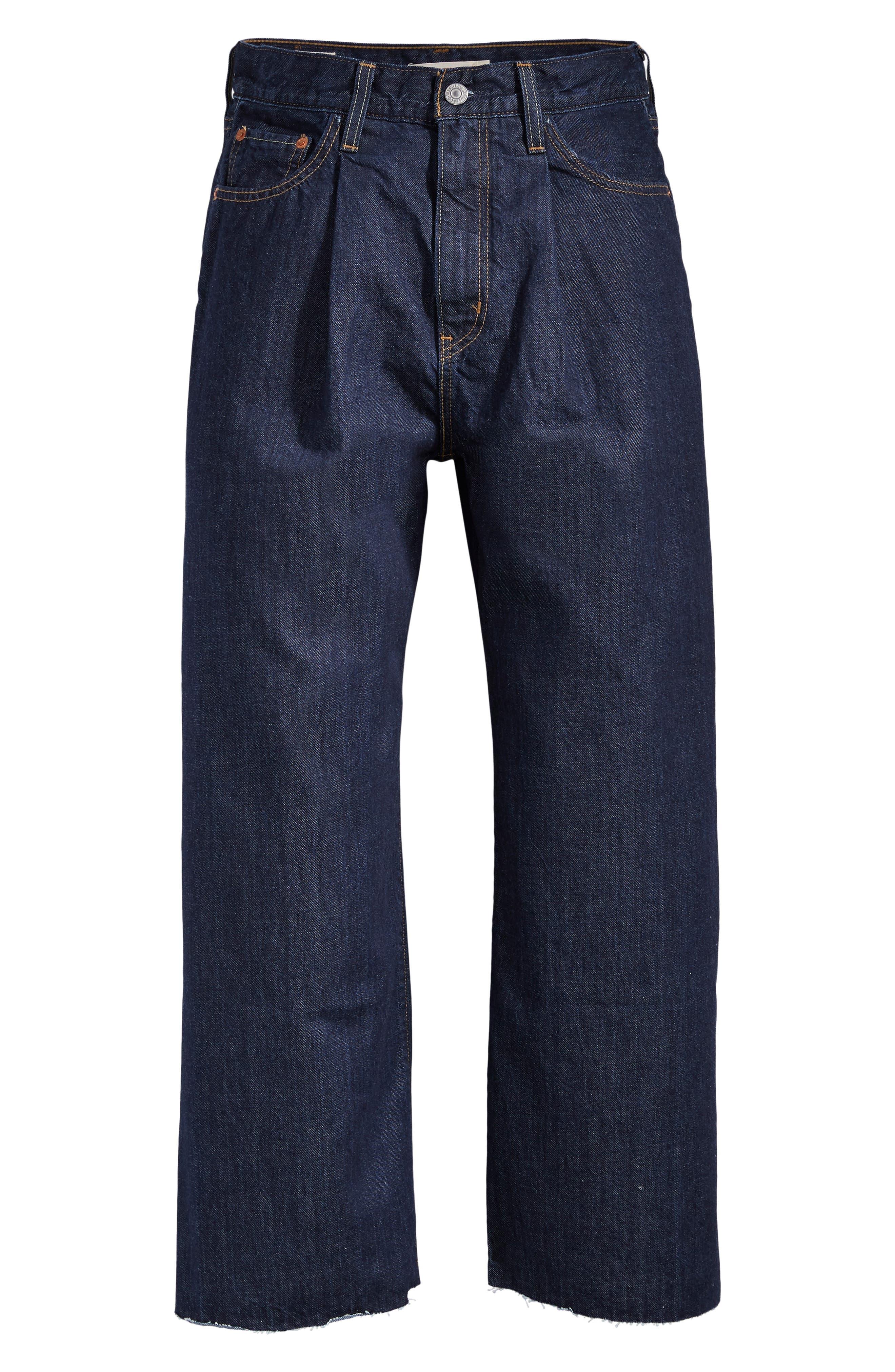 ,                             Ribcage Super High Waist Crop Wide Leg Jeans,                             Alternate thumbnail 5, color,                             420