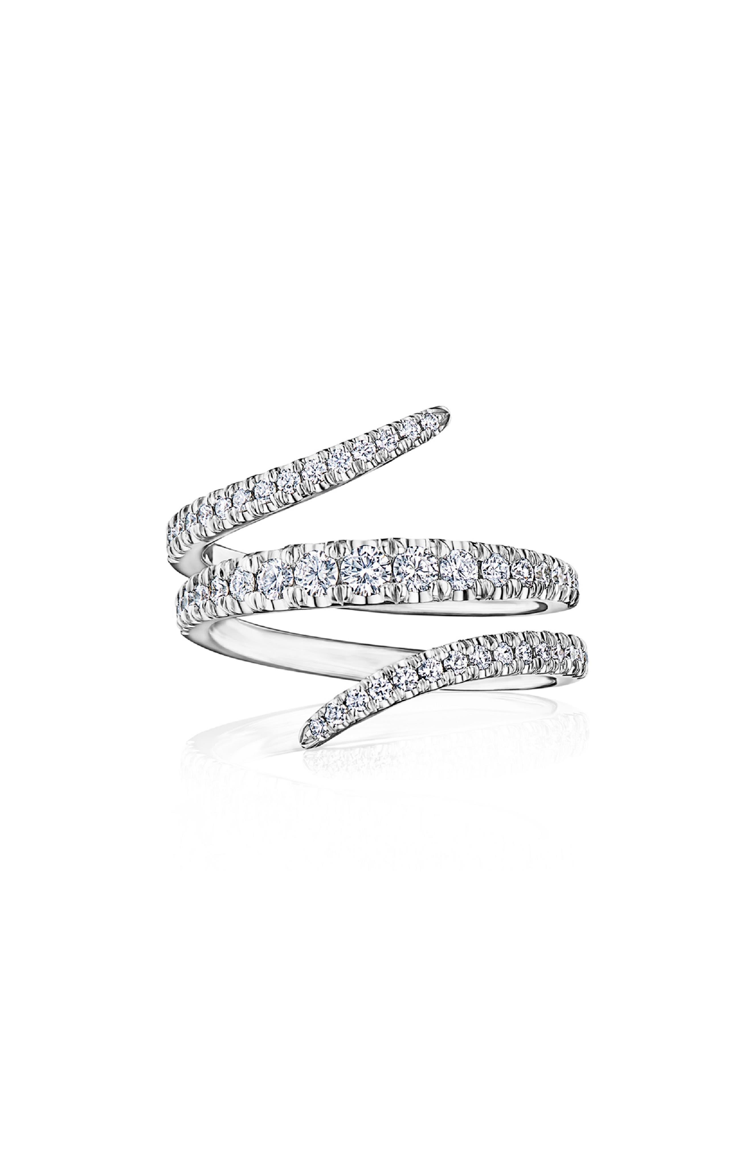 Eclipse Vine Diamond Ring, Main, color, WHITE GOLD