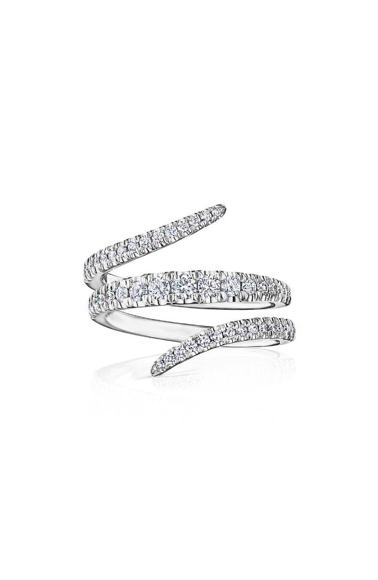 KWIAT Eclipse Vine Diamond Ring, Main, color, WHITE GOLD