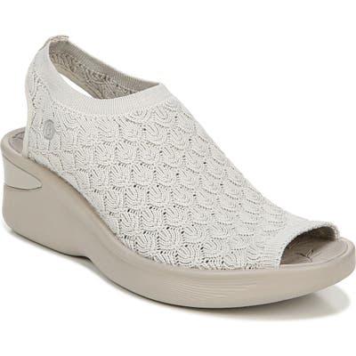 Bzees Secret Peep Toe Knit Sneaker W - Grey
