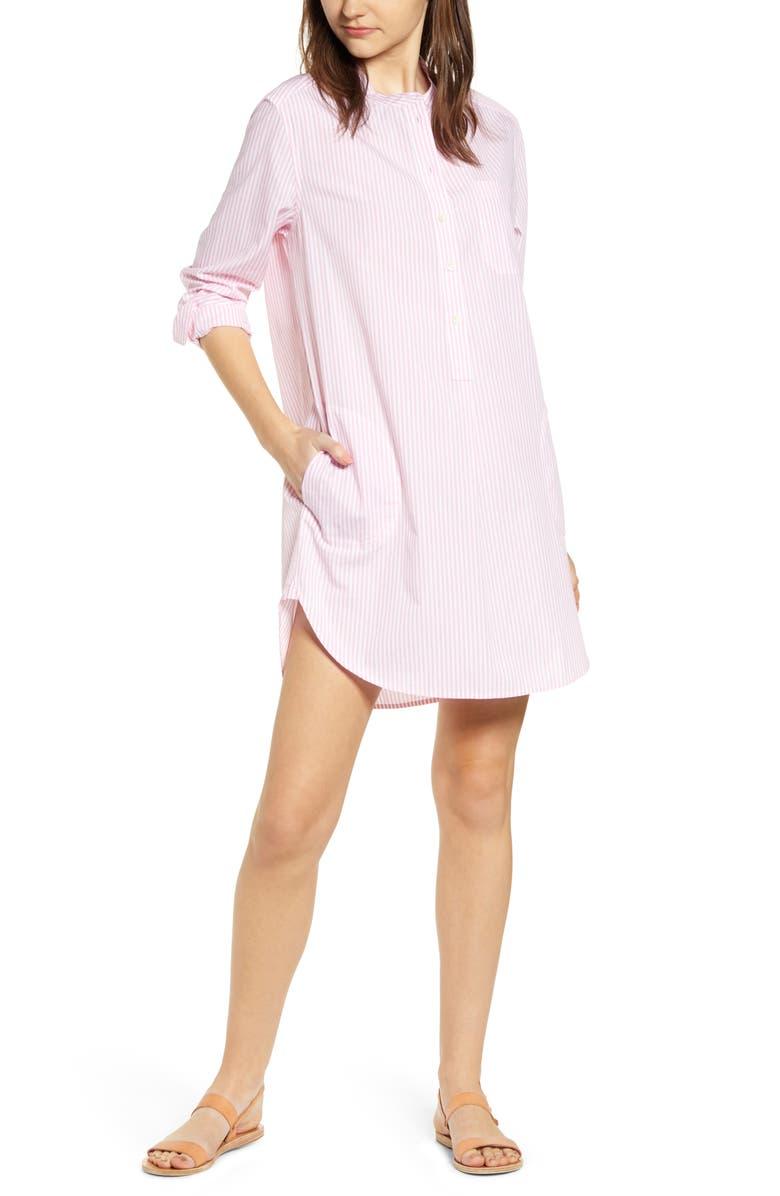 ALEX MILL Fine Stripe Popover Shirtdress, Main, color, 693