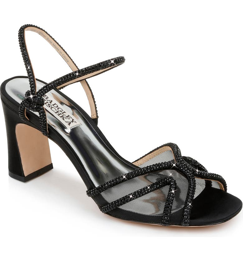 BADGLEY MISCHKA COLLECTION Badgely Mischka Collection Hey Embellished Sandal, Main, color, 015