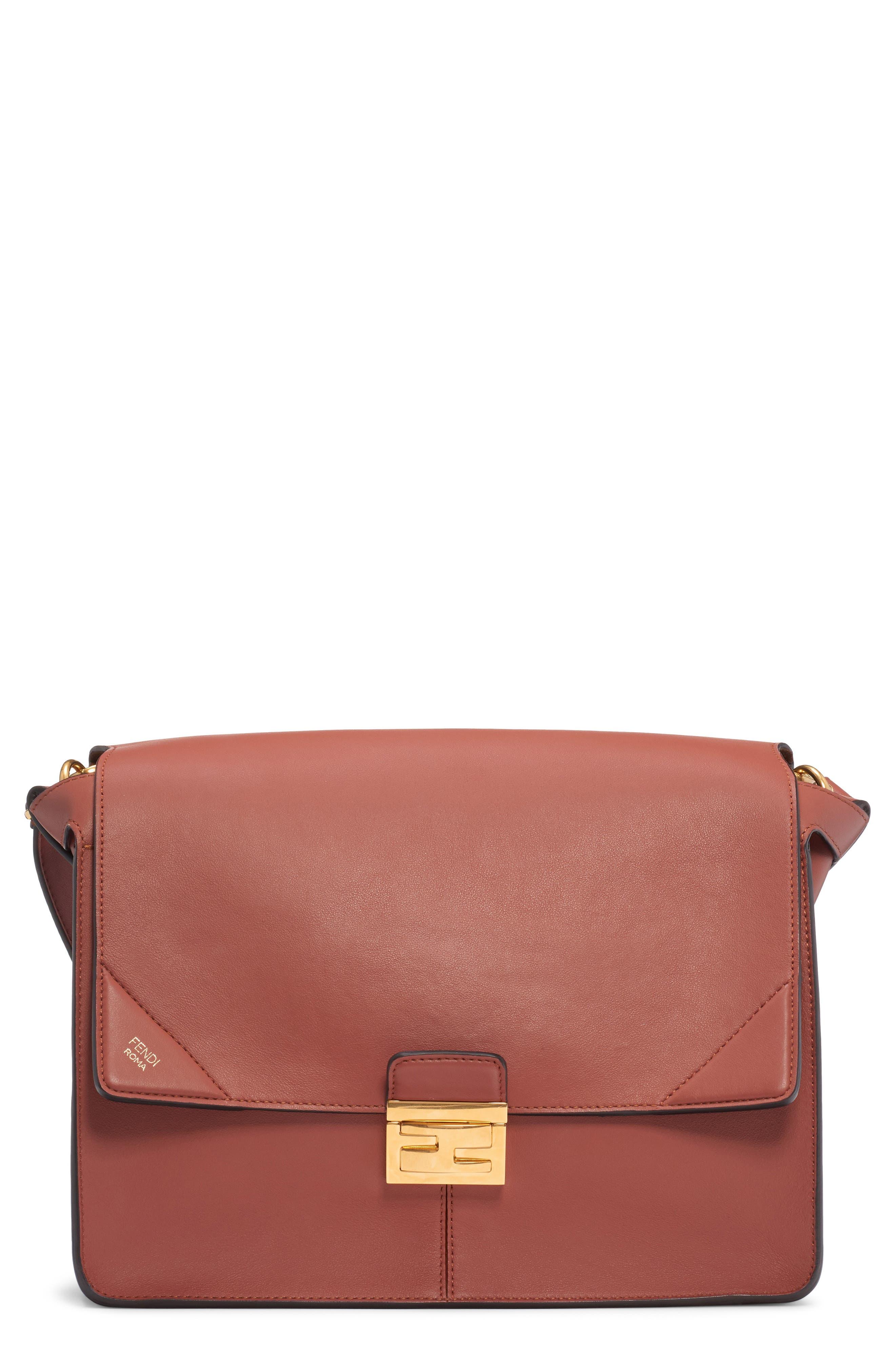Fendi Large Kan U Leather Shoulder Bag   Nordstrom