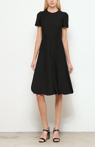 Pleated Wool & Silk Midi Dress, video thumbnail