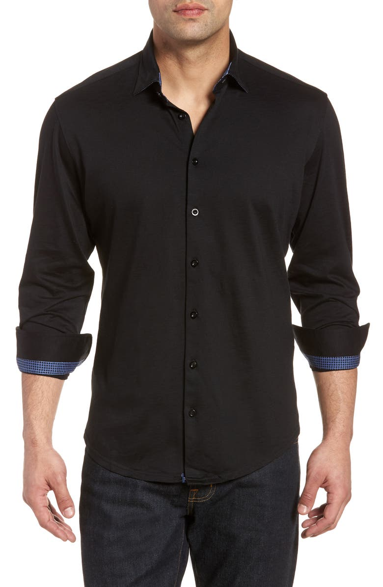 STONE ROSE Flame Regular Fit Sport Shirt, Main, color, 001