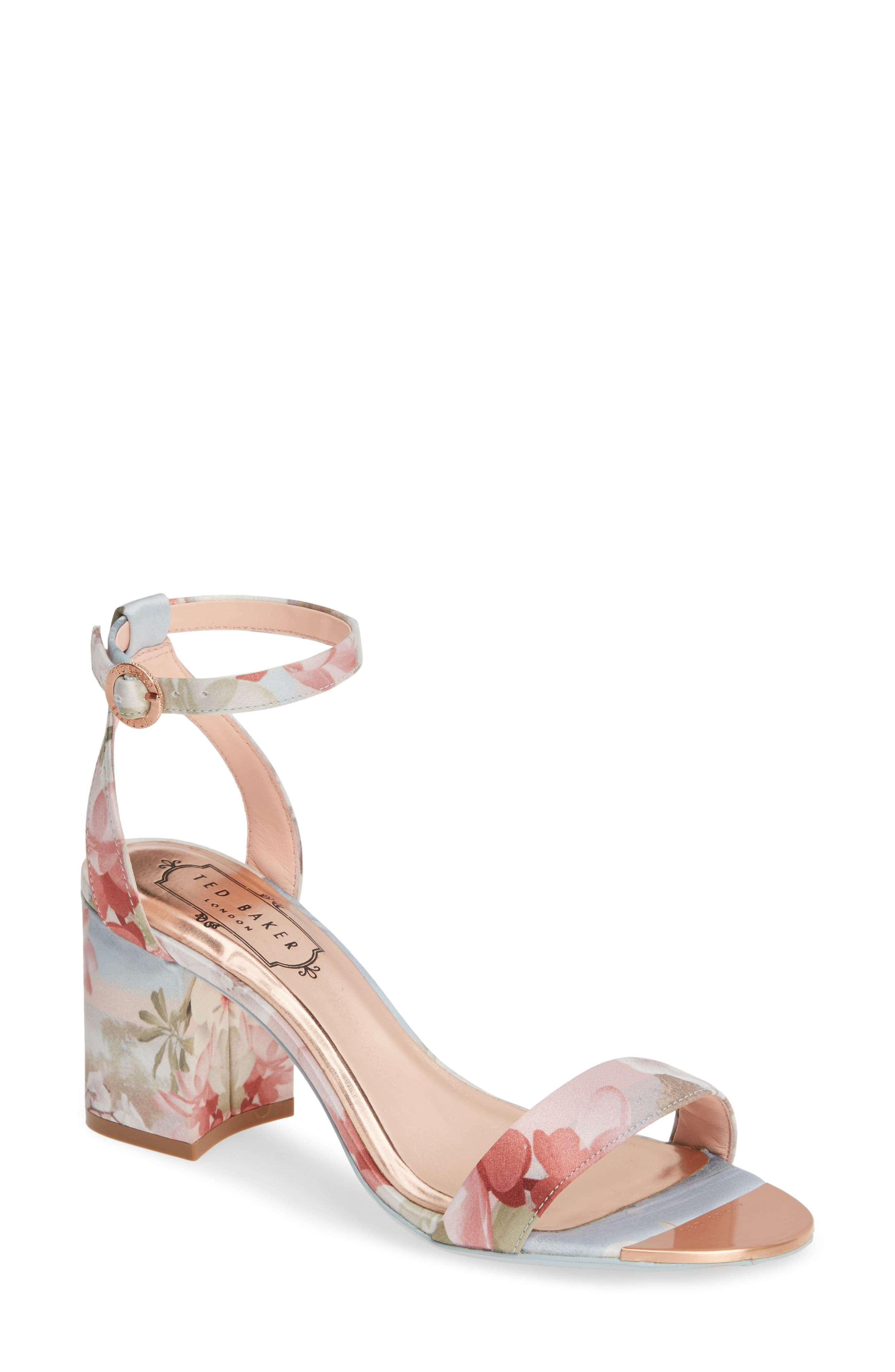 Rozie Block Heel Sandal, Main, color, PALE BLUE SATIN
