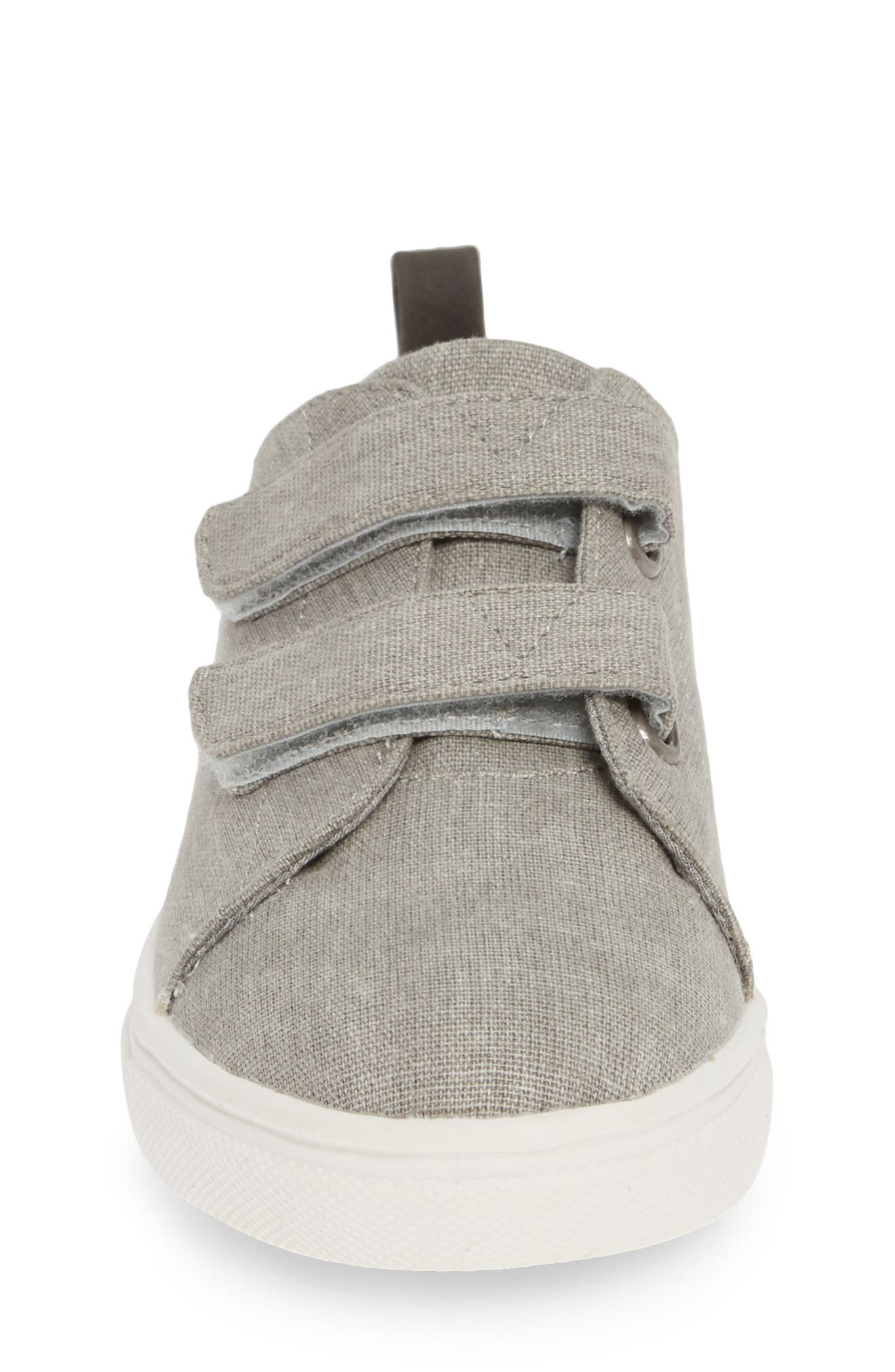,                             Double Strap Sneaker,                             Alternate thumbnail 4, color,                             GREY CANVAS