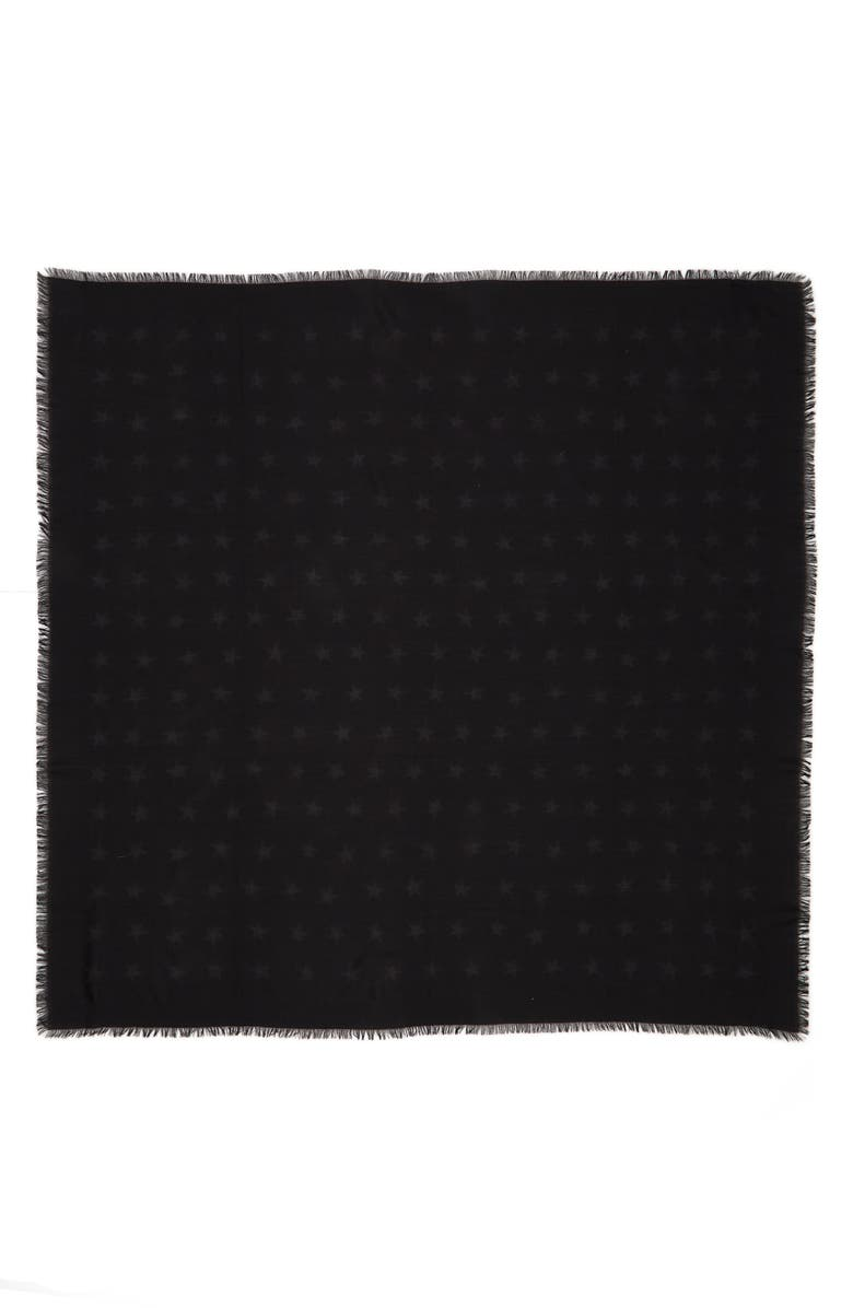 Saint Laurent Large Mesh Stars Wool Shawl