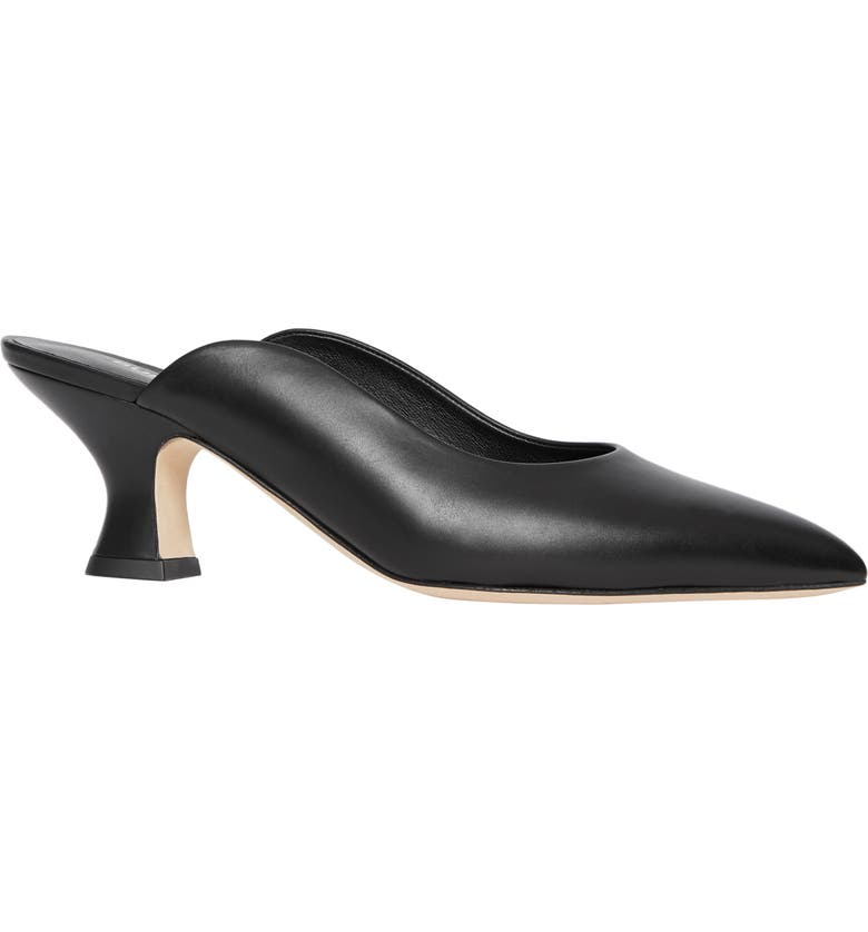 BURBERRY Holme Pointy Toe Mule, Main, color, BLACK