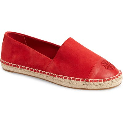 Tory Burch Colorblock Espadrille Flat, Red