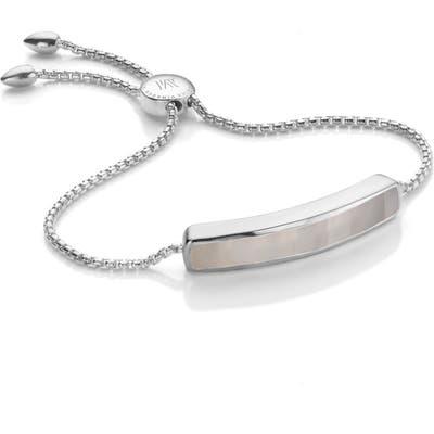 Monica Vinader Engravable Baja Sterling Stone Bracelet