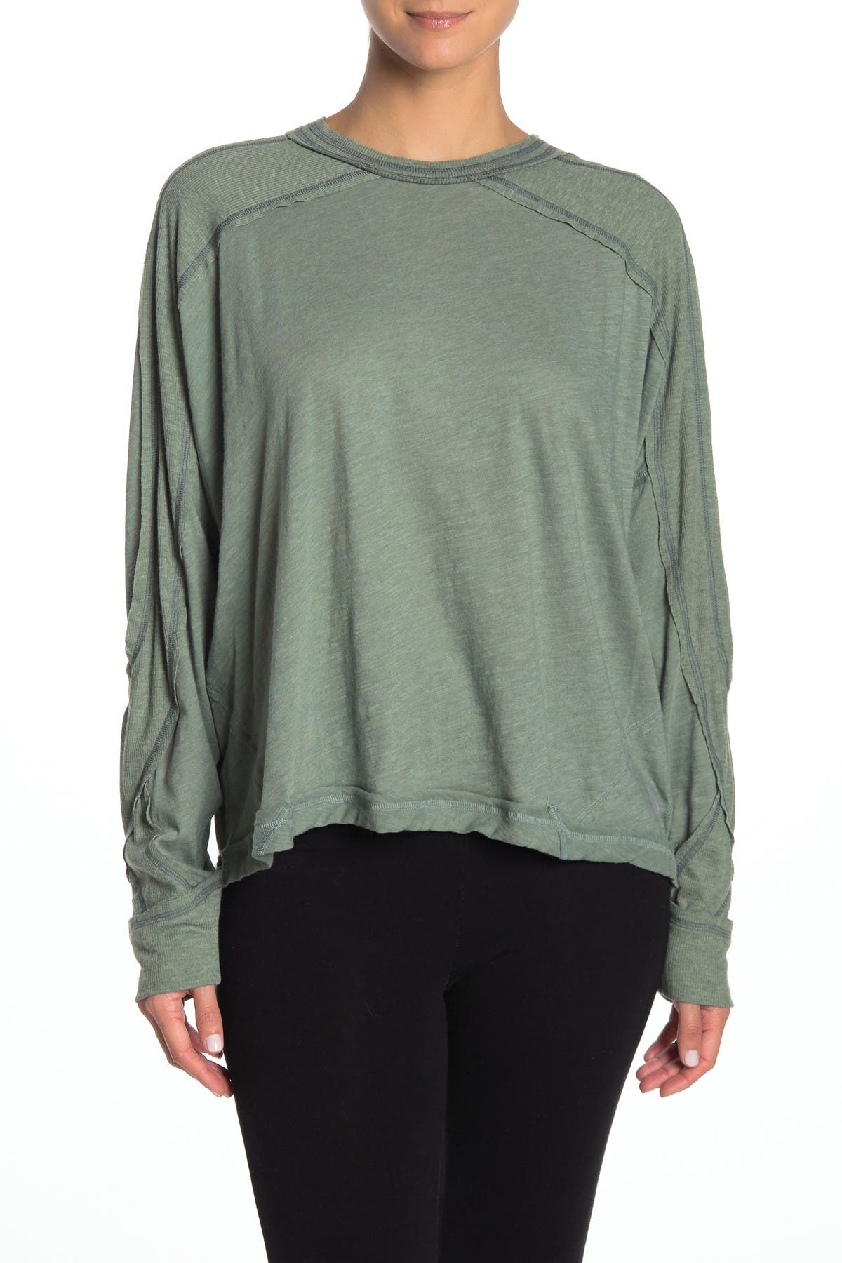 Image of Free People All About It Long Sleeve Workout Top