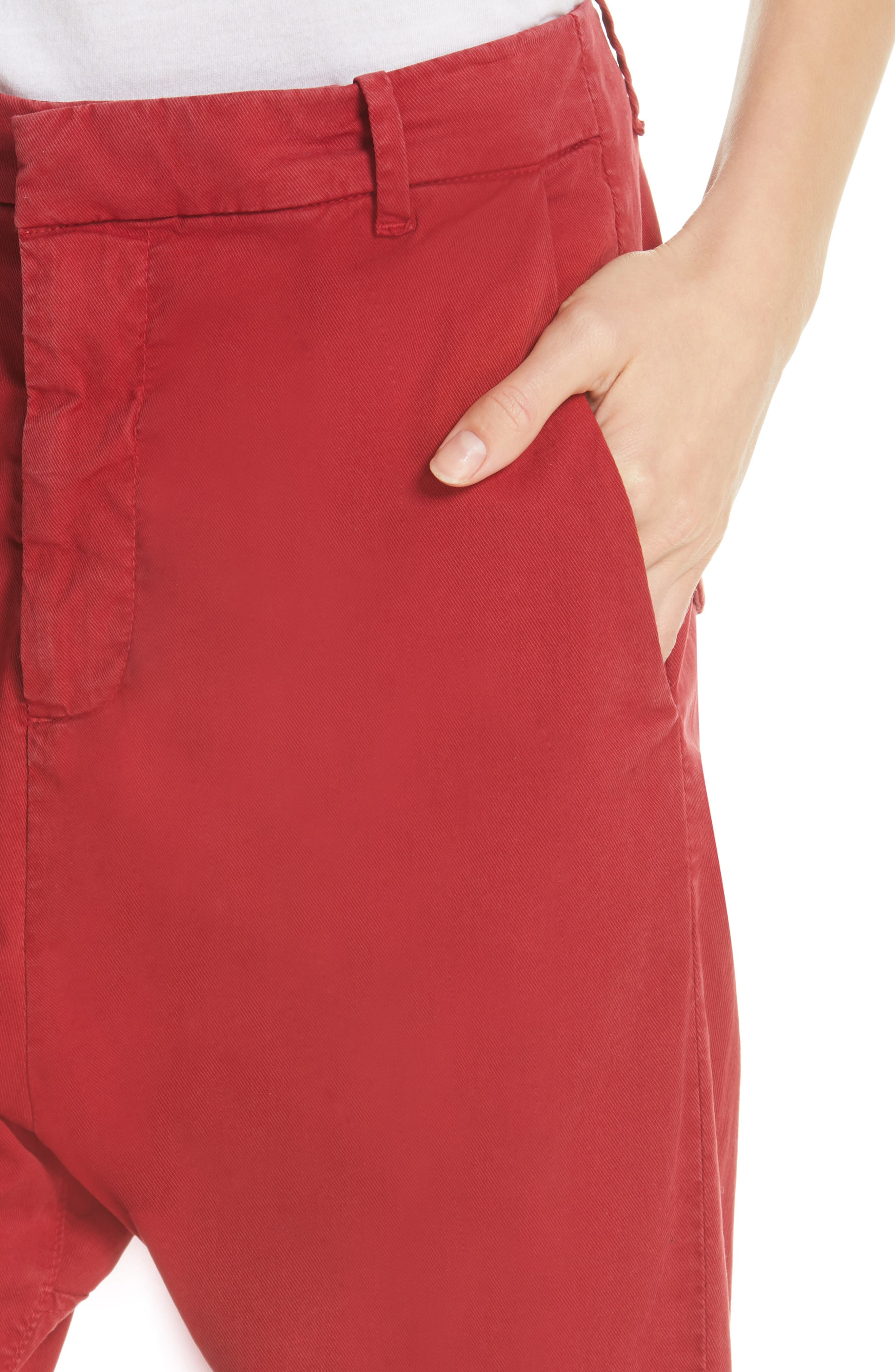 ,                             Paris Pants,                             Alternate thumbnail 5, color,                             SUNKISSED RED
