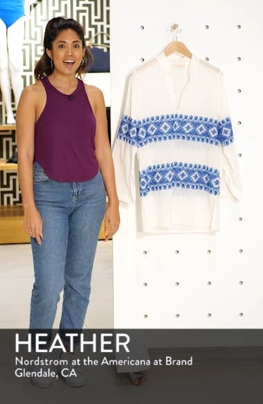 Stephanie Embroidered Cover-Up Tunic, sales video thumbnail