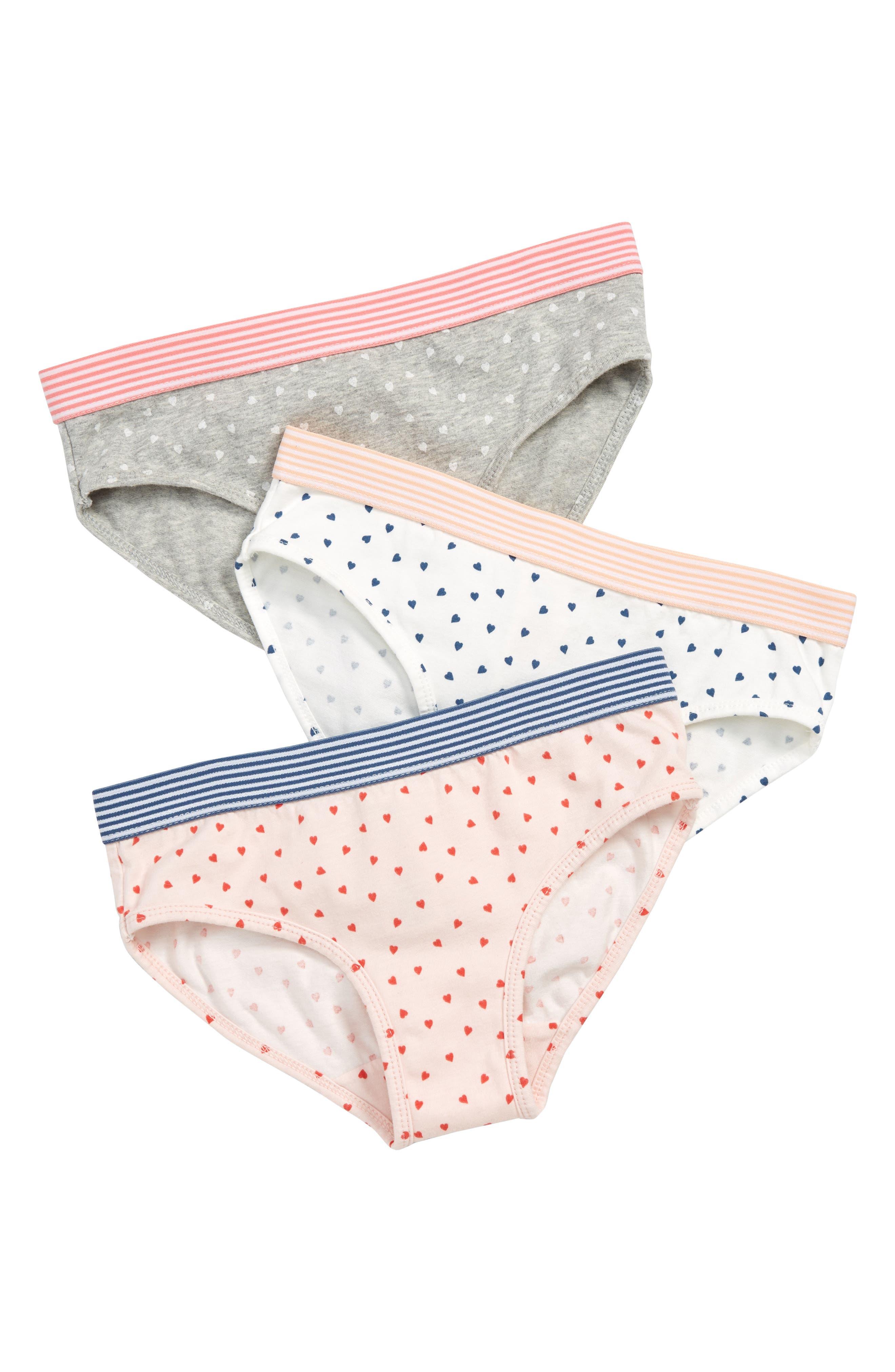 78102baf9a55a Girls Mini Boden 3Pack Hipster Panties