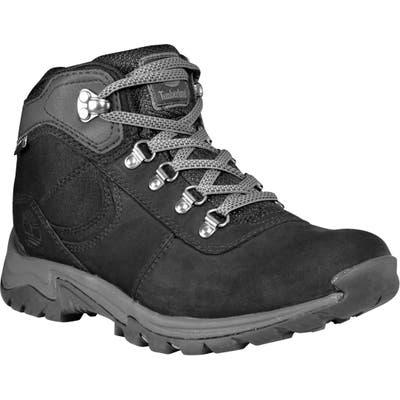 Timberland Mt. Maddsen Waterproof Hiking Boot- Black