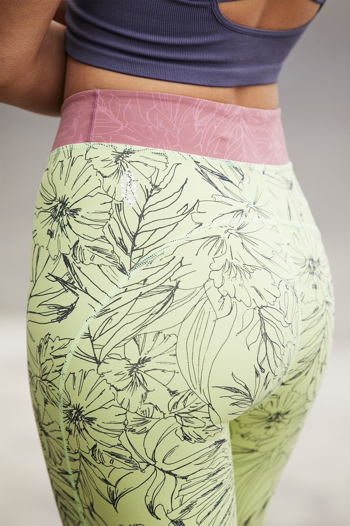 Free People FP Movement Fired Up Floral Biker Shorts