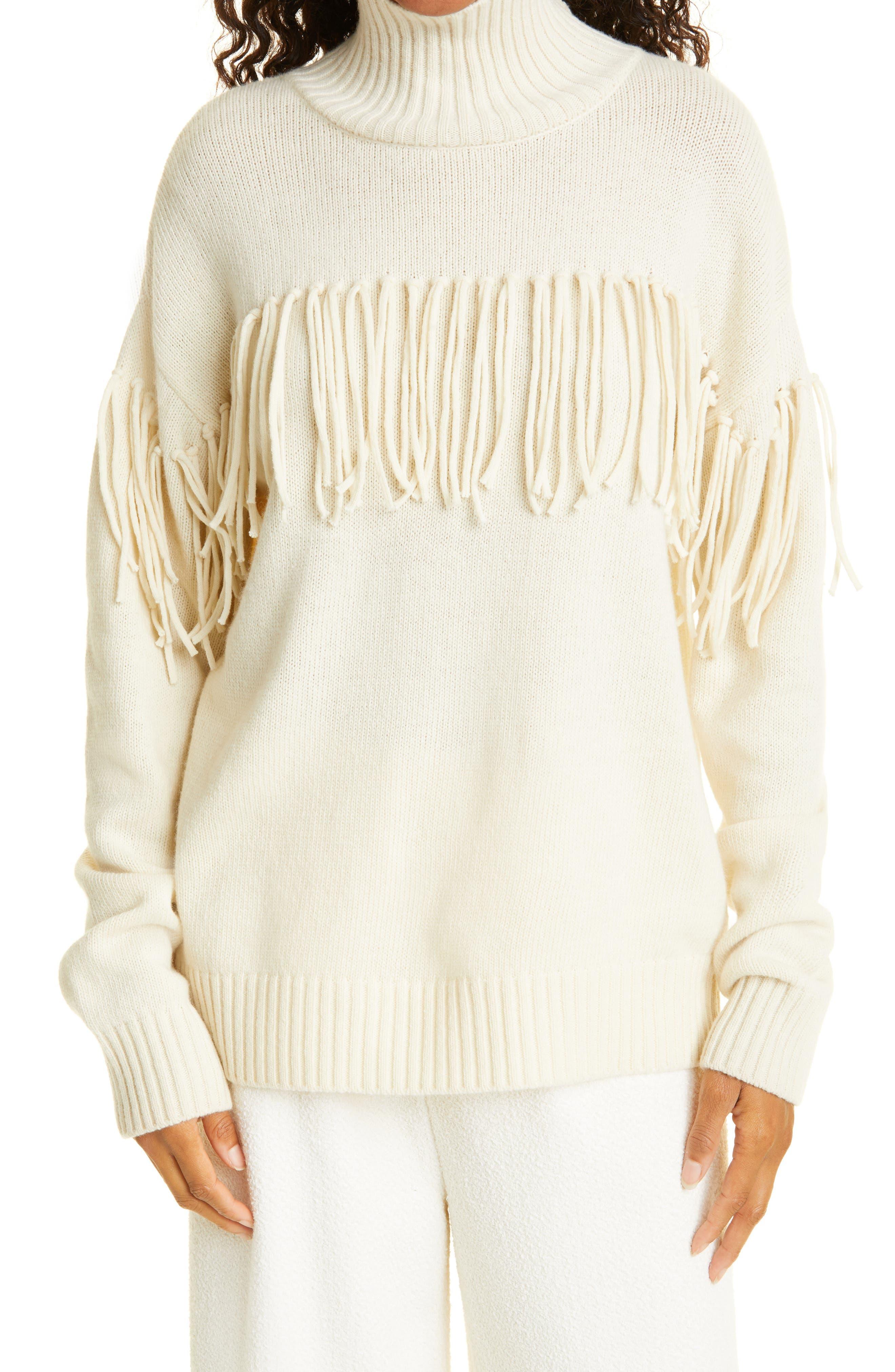 Women's Jason Wu Fringe Merino Wool Sweater