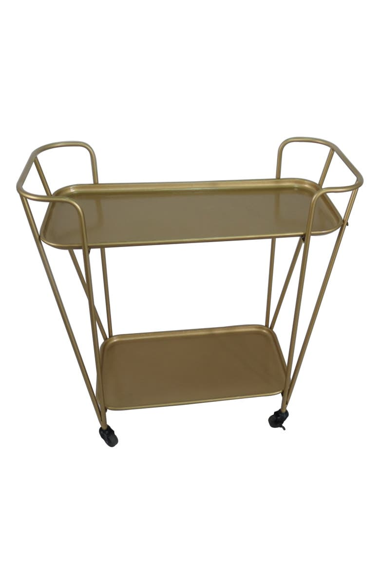 CRYSTAL ART GALLERY Golden Bar Cart, Main, color, 710