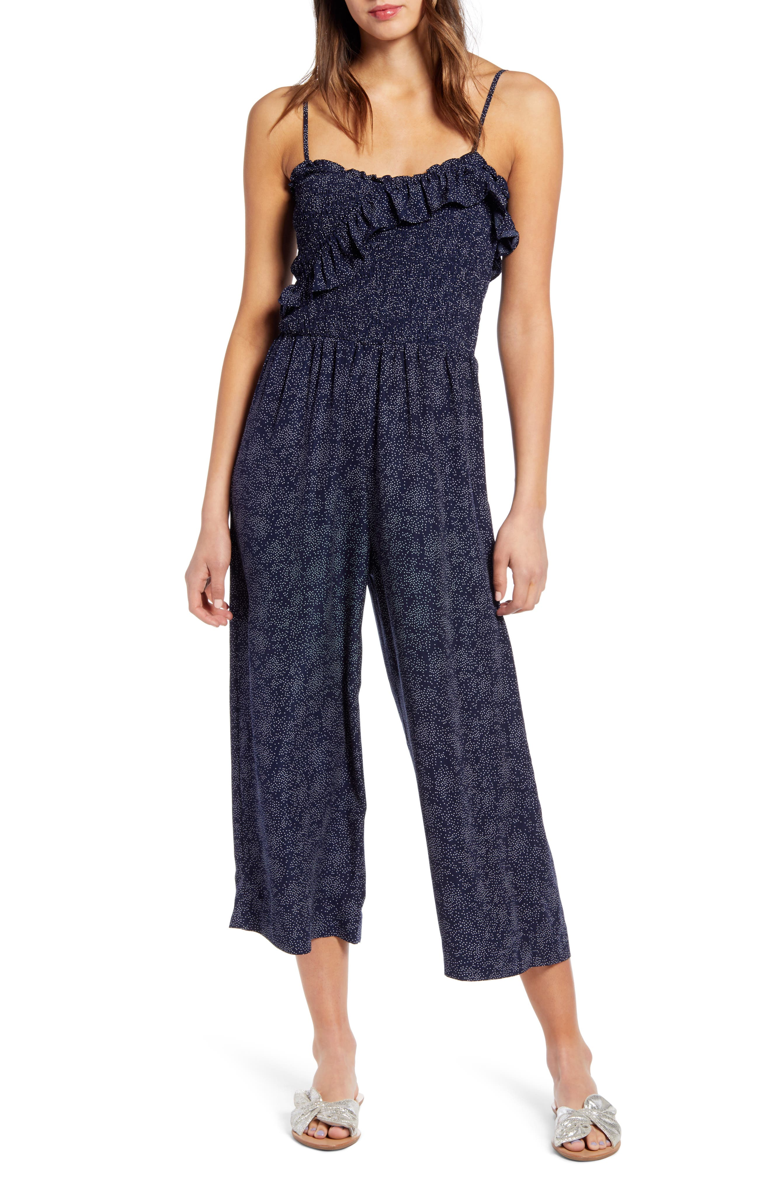 Image of Heartloom Remi Ruffled Crop Leg Jumpsuit
