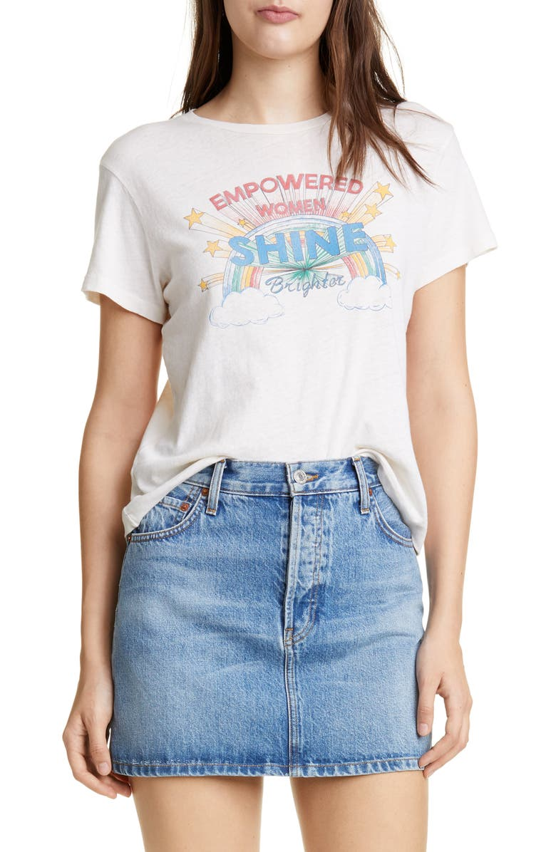 RE/DONE Shine Graphic Tee, Main, color, 100