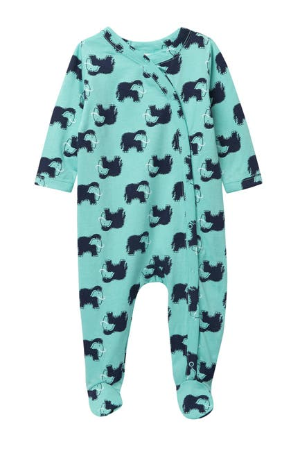 Image of Harper Canyon Printed Footed Jumpsuit