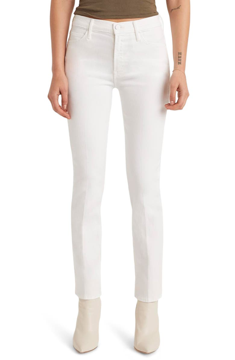 MOTHER The Dazzler High Waist Ankle Slim Straight Leg Jeans, Main, color, FAIREST OF THEM ALL