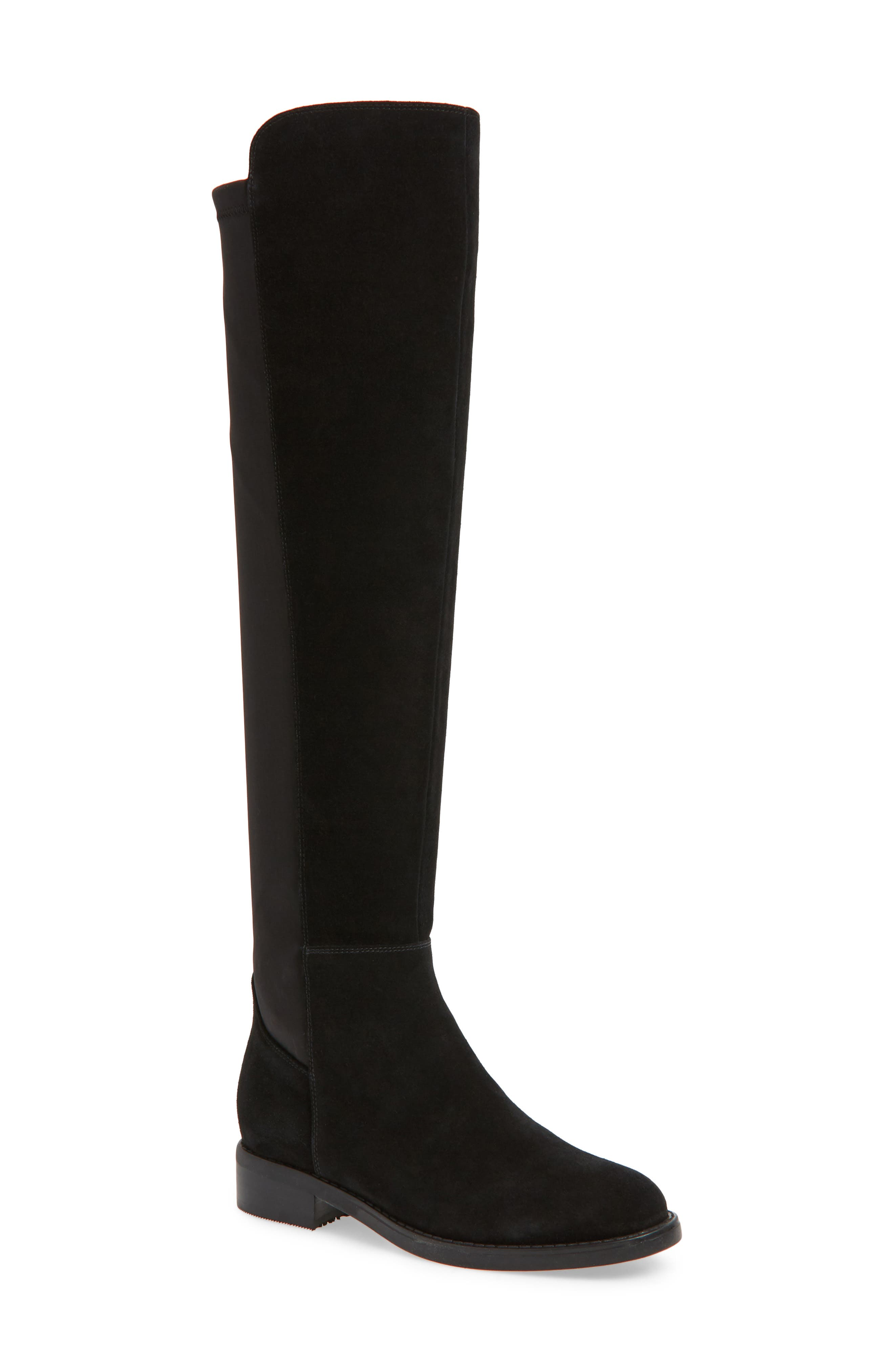 ,                             Danny Over the Knee Waterproof Boot,                             Main thumbnail 1, color,                             001