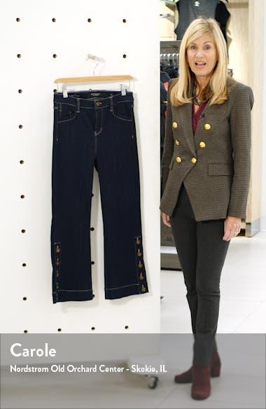 High Waist Button Hem Kick Flare Crop Jeans, sales video thumbnail