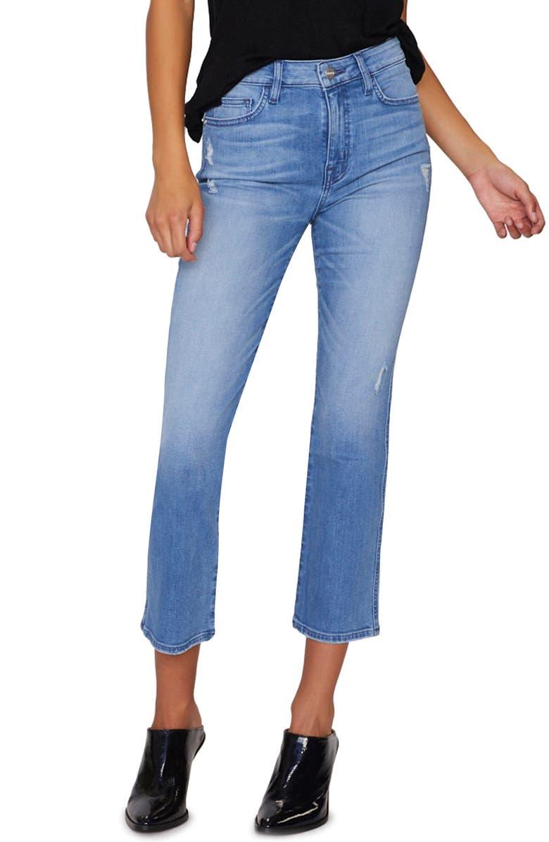 SANCTUARY Modern Standard Crop Straight Leg Jeans, Main, color, 421