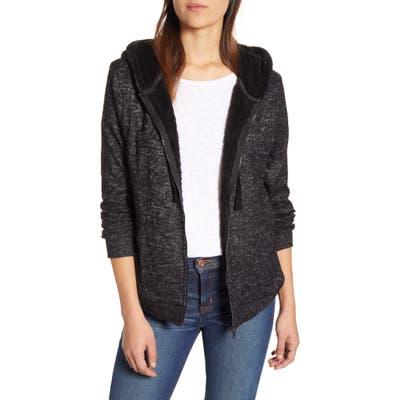 Bobeau Fleece Lined Hooded Jacket, Black
