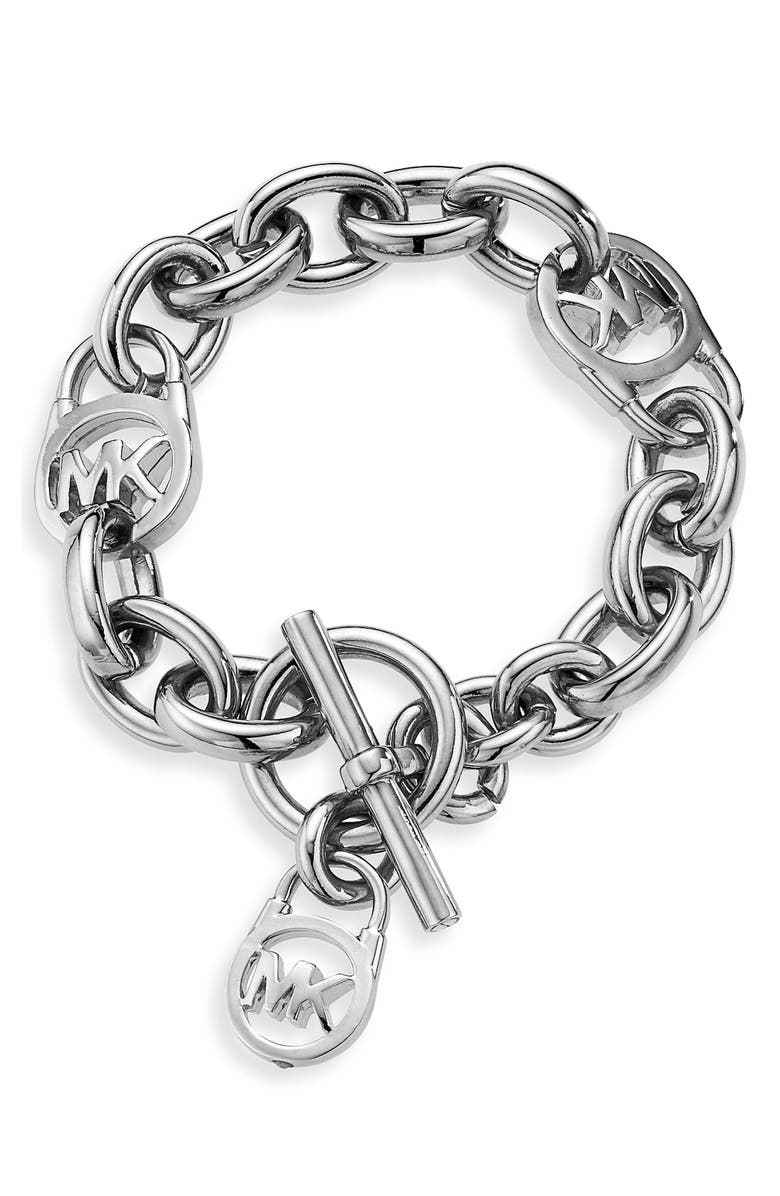 MICHAEL MICHAEL KORS Michael Kors Logo Toggle Bracelet, Main, color, 040